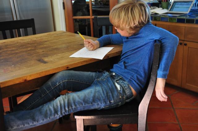 T writing